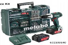 METABO SB18LT KIT CORDLESS HAMMER DRILL 2x18v 4.0ah Li-On Batteries,